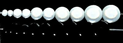 £1.99 • Buy Pangaeawalker AAA Quality Round Miracle Beads Of 4, 6, 8, 10, 12 Mm, White