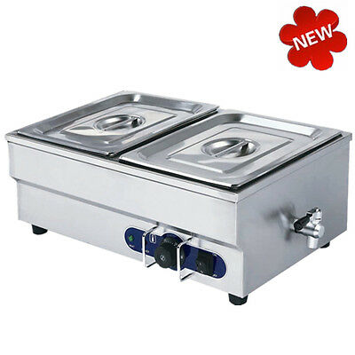 £129 • Buy 2 Pots Bain Marie Electric Food Warmer Wet Well Commercial Stainless 1/2 GN Pans