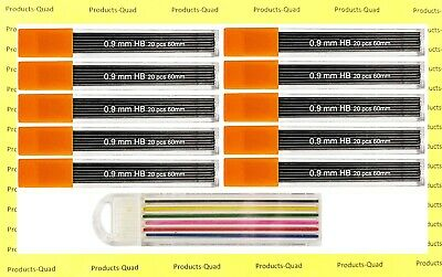$6.89 • Buy 0.9 Mm Mechanical Pencil Lead Refills .9mm Leads Refills, 200 Leads. FREE COLOR