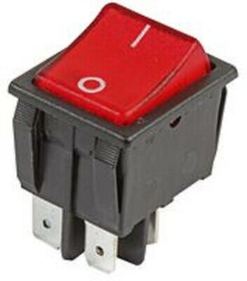 Red 240 Volt Illuminated Rocker Switch 16 Amp Dpst 4 Tags • 3.95£