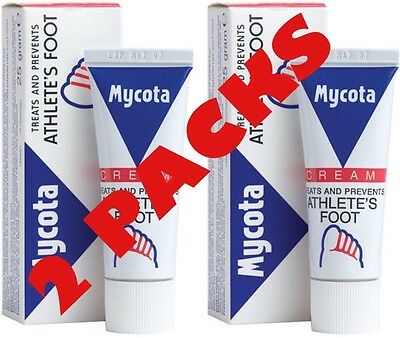 £3.63 • Buy Mycota Athletes Foot Cream 25g X2 TWIN PACK - Treats And Prevents Athletes Foot