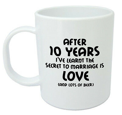 After 10 Years Ive Learnt Mug 10th Wedding Anniversary Gifts For Men Him Husband • 7.99£