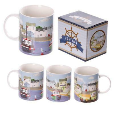 Egg N Chips London - New Bone China Summer Harbour Design Mug • 10.99£