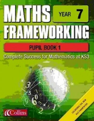 Maths Frameworking - Year 7 Pupil Book 1 By Evans, Kevin Spiral Bound Book The • 6.99£