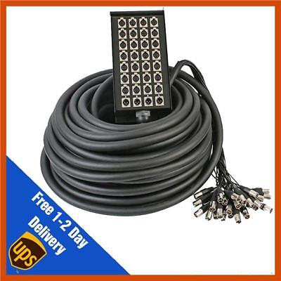 32 Way 24/8 XLR Multicore Stagebox Snake, 30m Cable Loom 24 Sends 8 Returns  • 225£