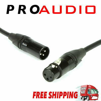 AU7.99 • Buy 3-Pin XLR Balanced Audio Extension Cable Microphone Lead Mic Cord Cannon Plug