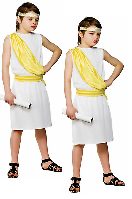 £7.49 • Buy Child Ancient Greek Boy Outfit Fancy Dress Costume Book Day Toga Kids Boys