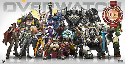 AU11.95 • Buy Overwatch Video Game Cast Characters Art Home Decor Print - Premium Poster