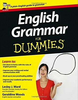 £7.49 • Buy English Grammar For Dummies, UK Edition By Ward, Lesley J. Paperback Book The