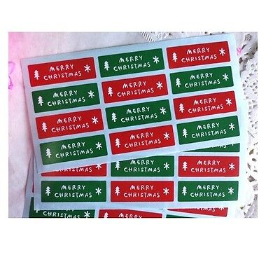 £2.80 • Buy Red & Green Labels 'MERRY CHRISTMAS' Gift Seal Christmas Present Stickers