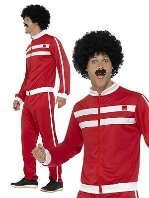 1980s Scouser Tracksuit Shell Suit Mens Ladies Fancy Dress Costume Retro Outfit • 13.49£