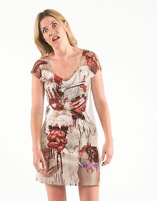 £4.99 • Buy Faux Real Zombie Bride Horror Halloween T-Shirt Dress REDUCED / SALE