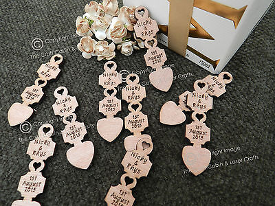 £19.99 • Buy Personalised Wooden Love Spoons, Favours, Table Decorations, Vintage Wedding