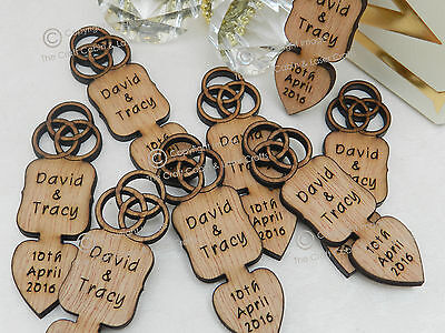 £49.99 • Buy Personalised Celtic Knot Wood Love Spoons, Favours, Vintage Wedding Decoration
