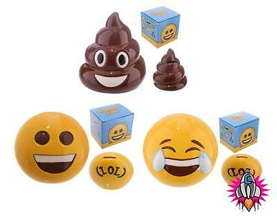 Emoji Emoti Money Box Piggy Bank New In Gift Box Lol Poop Poo Big Smile • 7.95£