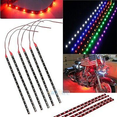 $10.59 • Buy 12x Waterproof 12''/15 DC 12V Motor LED Strip Underbody Light For Car Motorcycle
