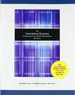 £3.31 • Buy International Business By Hill, Charles W. L. Paperback Book The Cheap Fast Free