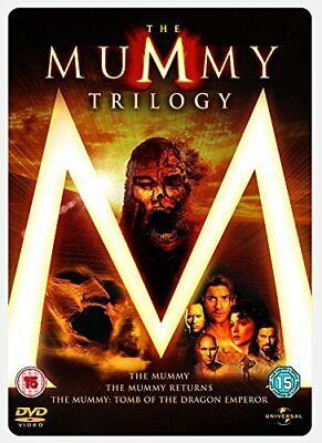 The Mummy 1, 2 & 3 Steelbook Box Set [DVD] - DVD  52VG The Cheap Fast Free Post • 3.49£