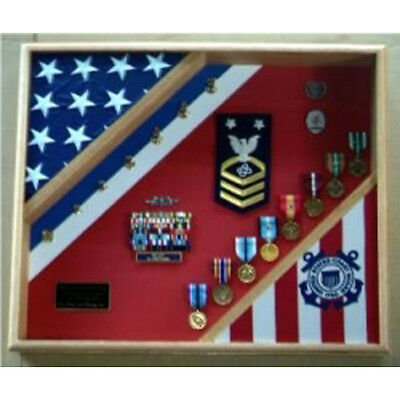 USCG Cutter Shadow Box Top Quality Wood Hand Made By Veterans • 204.67£