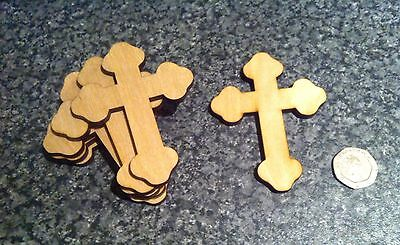 £2.65 • Buy X10 Wooden Easter Shapes, Cross Crafts