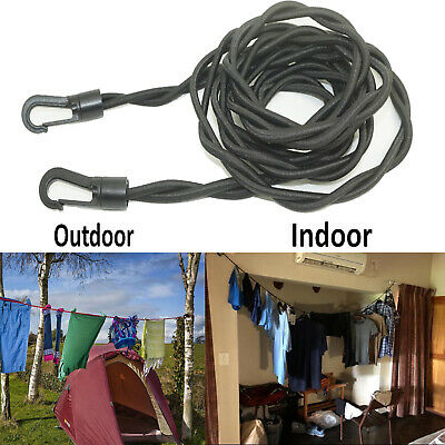 £4.99 • Buy Holiday Travel Clothes Line Clothesline Washing Camping Hanging Airer Rope Drier