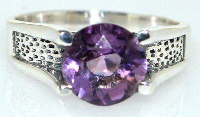 £29.99 • Buy Amethyst Mens Ring 925 Sterling Silver Band Solitaire Gents Sizes M 6 To 15 Z5