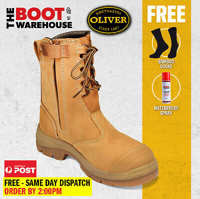 AU157.59 • Buy Oliver Work Boots 55385, Steel Toe Safety High Leg, Zip Side. UPDATED STYLE