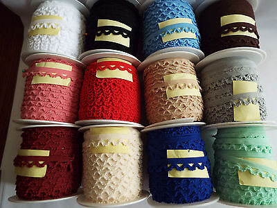 3 M-Decorative Elastic Lace,stretch Trim 16mm Wide, For Sewing,lingerie Edge  , • 2.29£
