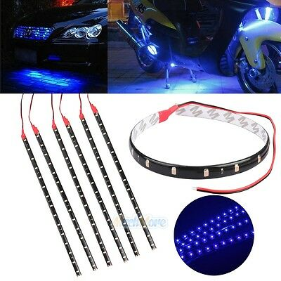 $6.59 • Buy 6PCS Waterproof 12''/15 DC 12V Motor LED Strip Light For Car Motorcycle Blue USA