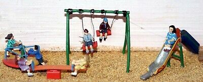 Children Playground F152 UNPAINTED OO Scale Langley Models Kit People Figures • 18.33£