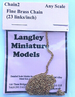 Fine Ring Link Chain 30 Inches Long CHAIN2 Scale Langley Models Kit Accessories • 4.76£
