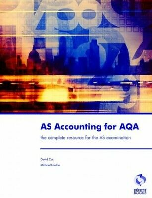 £3.29 • Buy AS Accounting For AQA By Fardon, Michael Paperback Book The Cheap Fast Free Post