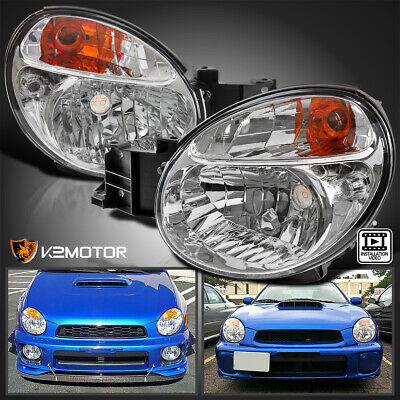$109.61 • Buy For 2002-2003 Subaru Impreza WRX/Outback Clear Headlights Left+Right Lamps Pair