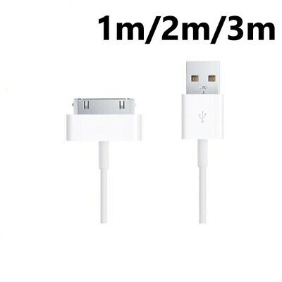 AU5.99 • Buy 1m/ 2m/ 3m IPhone 4S 4 3G USB Data Charger Cable Lead For IPad 2 3 IPod Classic