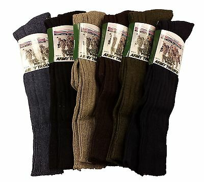 3 Pairs Of Men's Army Socks, Thermal Long Knee High Military Socks, Size 6-11 • 9.95£