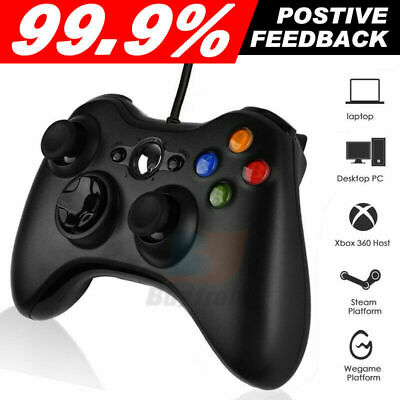 AU27.59 • Buy Black Xbox 360 Wired Controller For Windows & Xbox 360 Console PC USB Wired