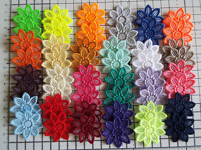 5pcs -  Embroidery Guipure Lace Flower Motif-Applique,Wedding, Patch - 4cm  • 2.49£