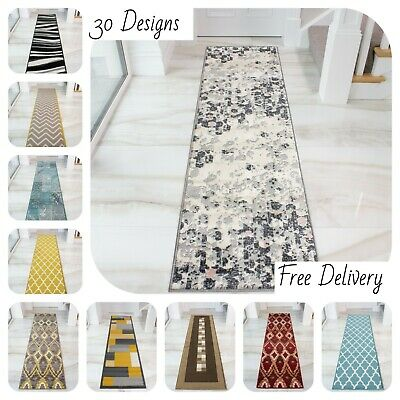 Very Long Narrow Hallway Hall Runners Runner Dark Carpet Mats Rugs Cheap £19.95 • 14.95£