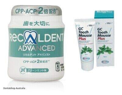 AU66.15 • Buy Recaldent Advanced Gum & GC Tooth Mousse Plus Combo Tooth Wear Sensitive Teeth