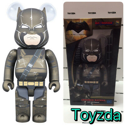 $248.88 • Buy Medicom DC Dawn Justice 400% Superman V Armored Batman Bearbrick Be@rbrick