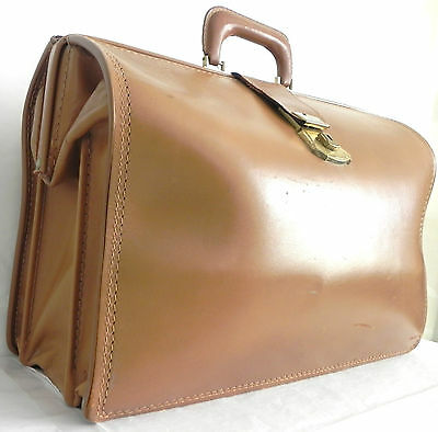 $143.99 • Buy Vintage Attorney/Doctor /Commuter Brief Case Leather Carrying Bag Large  Brown
