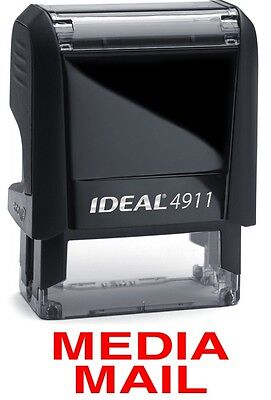 $8.45 • Buy MEDIA MAIL Stamp Text On An IDEAL 4911 Self-inking Rubber Stamp With RED INK