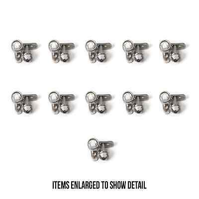$49.99 • Buy Dermal Piercing Jewelry 316L Surgical Clear Gem - 22 Tops And 22 Bottoms