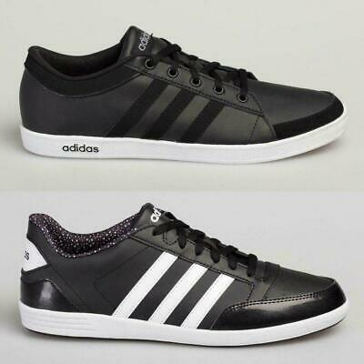 View Details Adidas Men's Women's Leather Trainers Calneo Lite Racer Hoops VL Black White • 29.95£