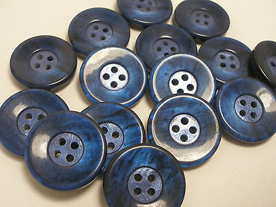 $ CDN4.01 • Buy New Lots 8 Blue Pearly Plastic Buttons Sizes 1 Inch, 7/8, 13/16,11/16, 5/8  P10