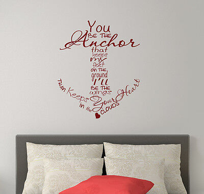 £20.86 • Buy Quote Wall Decals Family Decal Anchor Vinyl Stickers Nautical Sea Bedroom FD234