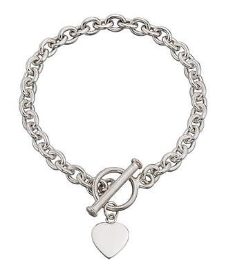 Heart Tag T-Bar Bracelet 20Cm • 91.99£