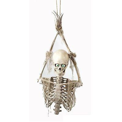 $44.99 • Buy 34.63 In. Life-Size Animated Hanging Skeleton Prisoner With LED Illumination