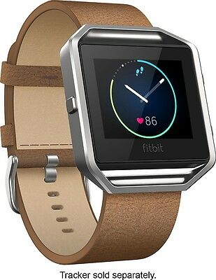AU91.28 • Buy FITBIT Blaze Leather Accessory Band & Frame / Camel / SMALL / $99.95
