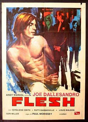 $17.98 • Buy ANDY WARHOL'S FLESH Movie POSTER 27x40 Italian Joe Dallesandro Geraldine Smith